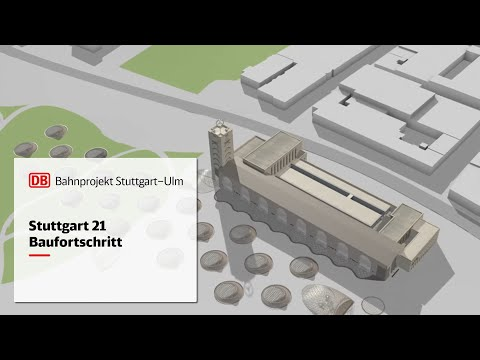 Animation Baufortschritt Stuttgart 21 | November 2018