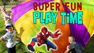 Spiderman Rocket Launcher, Parachute & Picnic at the Park