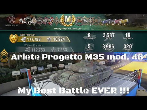 Ariete Progetto M35 Mod  46, Possibly My Best Game EVER !! World Of Tanks Console