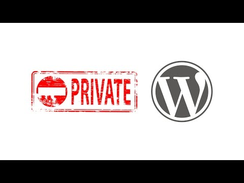 How do i make my wordpress site private until launch