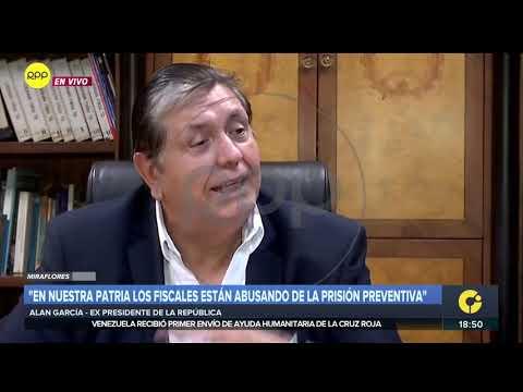 Alan García: 'Durante años buscaron 'delaciones', no hay nada'