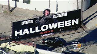 WeHo 'Halloween' Billboard Altered To Take Shot At Maxine Waters