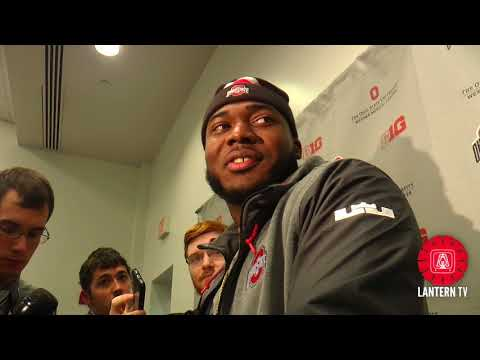 Ohio State DL Tyquan Lewis speaks after his team's 52-14 win over Illinois.