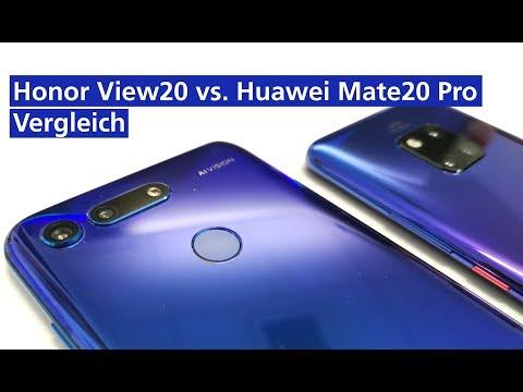 Honor View 20 vs. HUAWEI Mate20 Pro  im Vergleich (deutsch HD)