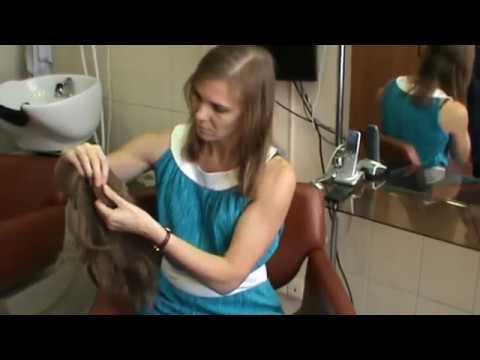 Накладка из натуральных волос на верхнюю часть головы