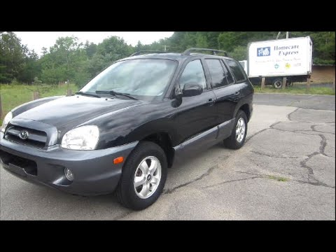 2005 Hyundai Santa Fe GLS V6 Start Up, Engine U0026 Full Review   YouTube