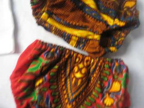 Number 1 T Shirt With African Inspired Baby Diaper Cover And Booties