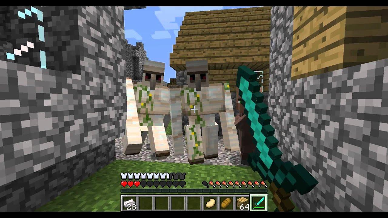 Minecraft 1 2 comment cr er un golem de fer how create - Minecraft golem de fer ...