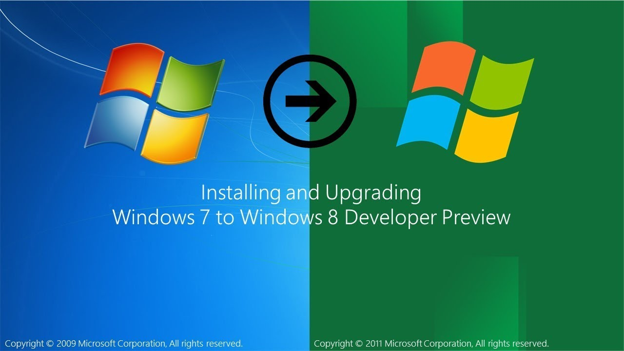 Installing and Upgrading Windows 7 to Windows 8 Developer Preview