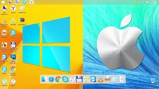 КАК СДЕЛАТЬ В WINDOWS ПАНЕЛЬ В СТИЛЕ MAC OS