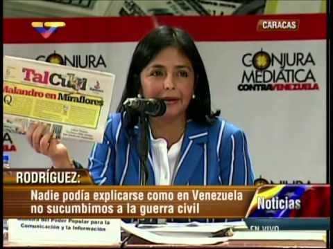 Foro Conjura Mediática: Intervención de Delcy Rodríguez