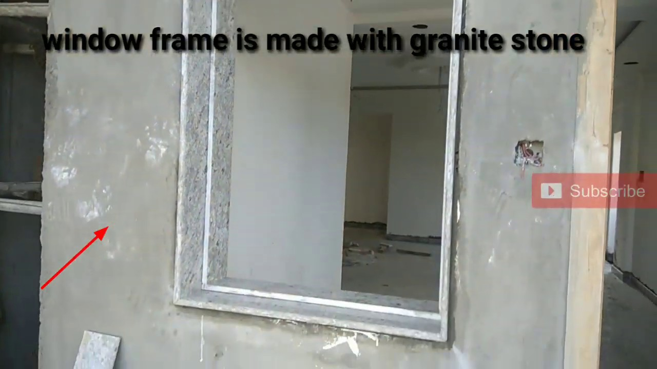 Window Frame Is Made With Marble Stone