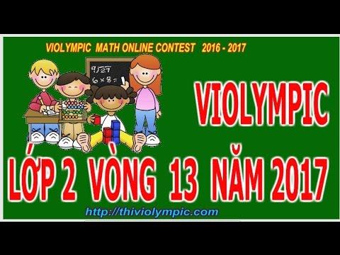 Giải toán mạng Lớp 2 Vòng 13 Năm học 2016 – 2017 đạt 300 điểm