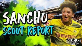 Jadon Sancho Scout Report   Borussia Dortmund & England   Strengths, Skills, Assists & Position