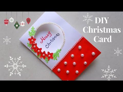Diy Christmas Greeting Card How To Make Christmas Card Simple And Easy Christmas Card For Kids Youtube