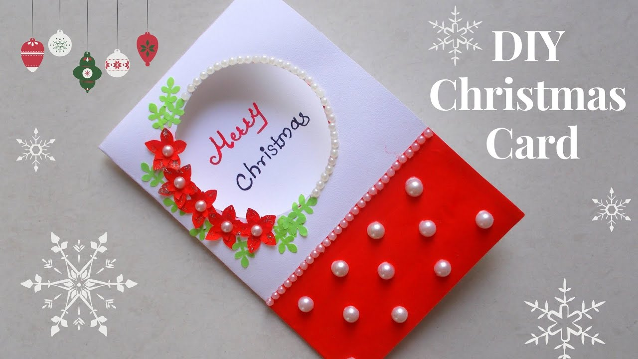 Easy Christmas Cards Designs.Diy Christmas Greeting Card How To Make Christmas Card Simple And Easy Christmas Card For Kids
