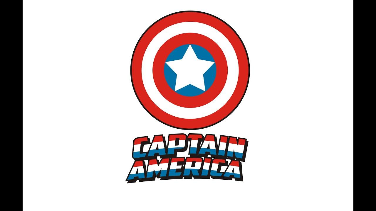 How to Draw a Classic Captain America Logo using Coreldraw ...