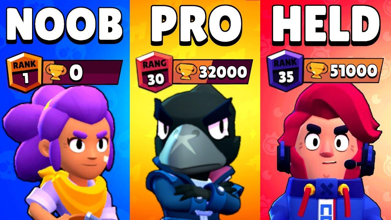 Download NOOB vs PRO vs HELD in Brawl Stars... 1 vs 1 vs 1 BATTLE!