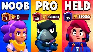 NOOB vs PRO vs HELD in Brawl Stars... 1 vs 1 vs 1 BATTLE!