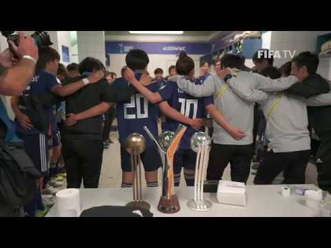 #DareToShine Japan U-20s Women's Dressing Room Celebrations (EXCLUSIVE)