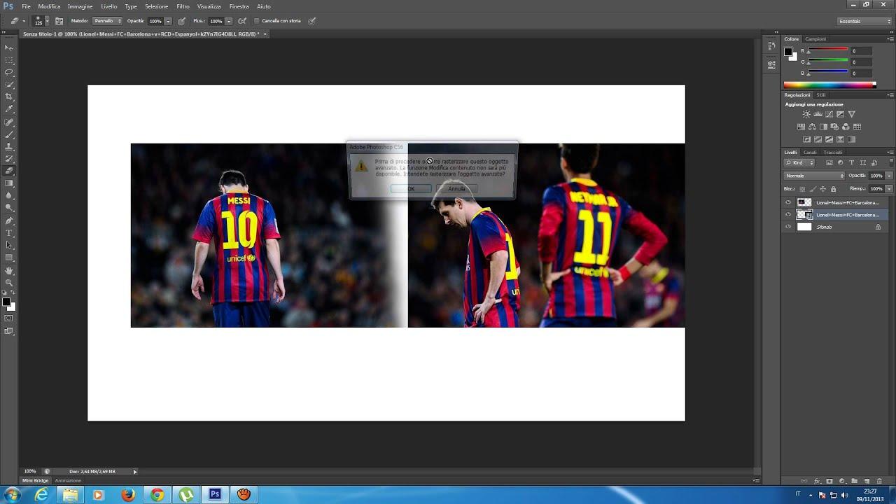 Come Unire Due Foto.Semplicissimo Come Unire Due Stock Photoshop Cs6 Youtube