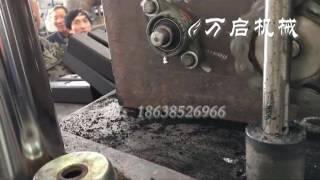 China 17cm charcoal briquette press machine, hydraulic cylinder/cube/hexagonal briquette machine