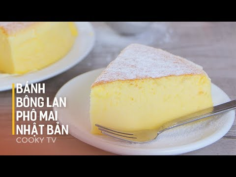 Cách làm BÁNH BÔNG LAN PHÔ MAI NHẬT BẢN - How to make Japanese cheesecake - Cooky TV