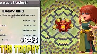 🔴 LAYOUT CV8 PUSH - NEW BEST TH8 TROPHY BASE - CLASH OF CLANS