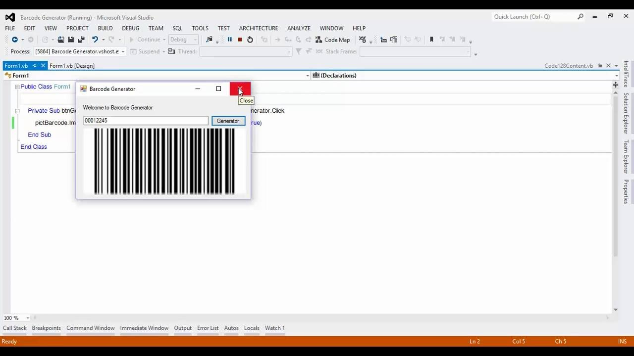 Create barcode generator with Visual Studio 2015 - EASY WAYS
