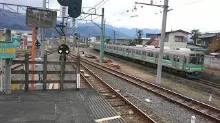 西武秩父駅の横を通過する秩父鉄道の電車 part1