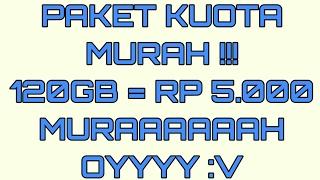 Trik paketan MURAH !!! 120gb 2 bulan hanya 5rb