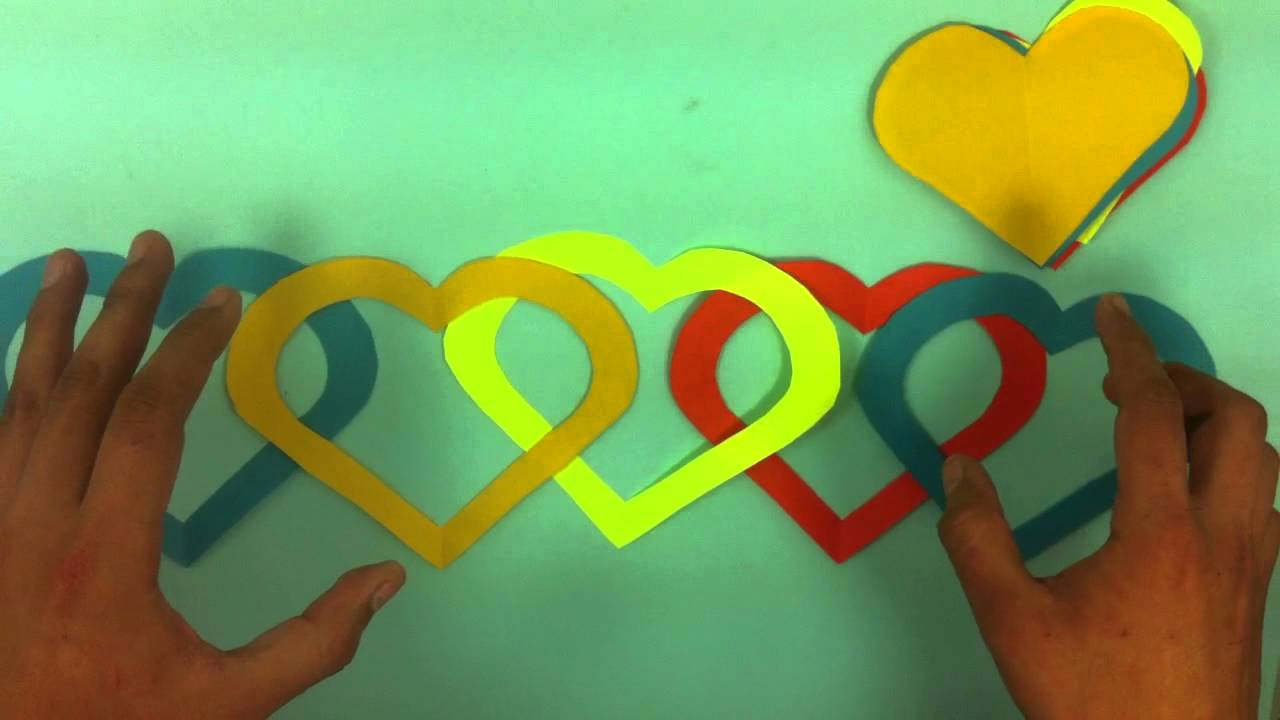 Adorno En Forma De Corazon De Papel Ideas Para San Valentin Youtube