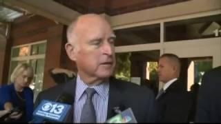 California Governor Brown votes
