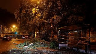 عاصفة ليزلي المدارية تجتاح البرتغال وتخلف عدة خسائر