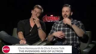 Chris Hemsworth & Chris Evans Chat THE AVENGERS: AGE OF ULTRON
