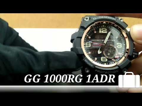 CASIO G SHOCK SERI GG-1000RG-1ADR (Unboxing & Review / Setting time)