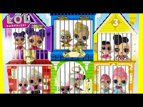 LOL Surprise Big Sisters + LOL Little Sisters In Jail Rescue TOY SURPRISES