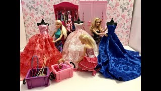 Barbie New Dresses! Barbie friends Day! Ball Gowns!