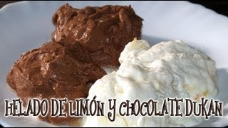 Helado de Limón y de Chocolate Dukan - Lemon and Chocolate Ice Cream - Receta Fase Crucero