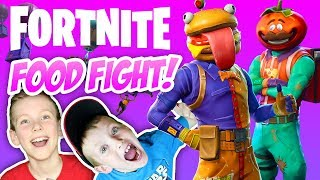 FORTNITE FOOD FIGHT! Season 6 Battle Pass Family Friendly Gameplay