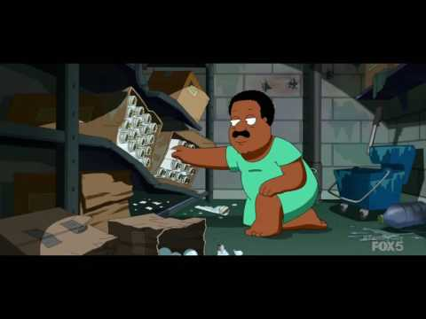Cleveland changes a light bulb - Family Guy