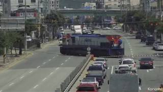 [철도영상] KORAIL - #3054 컨테이너 화물열차 운행 종료 후 신탄진 대전차량 융합기술단 인입선 입선 과정 (2018.06.09)