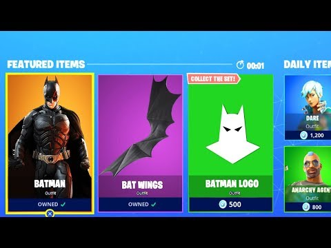 *NEW* BATMAN SKINS OUT NOW! FORTNITE ITEM SHOP COUNTDOWN RIGHT NOW! (FORTNITE BATTLE ROYALE)
