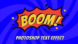[Free] Photoshop Comic Book Text Effect - Photoshop Action