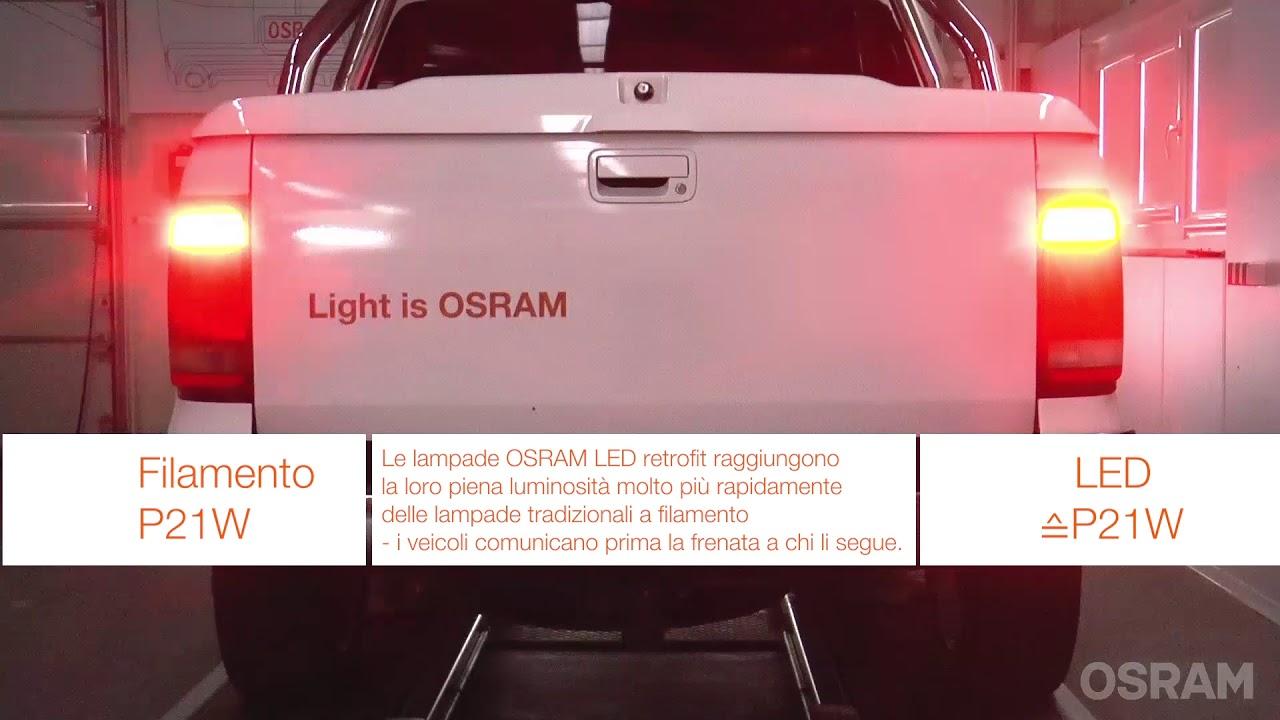 Osram: ledriving premium 7556r vs lampada a filamento youtube