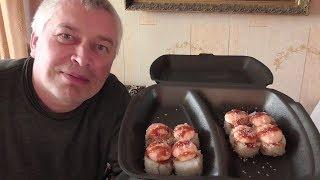Спасибо за суши! Геннадий Горин в первый раз пробует роллы!
