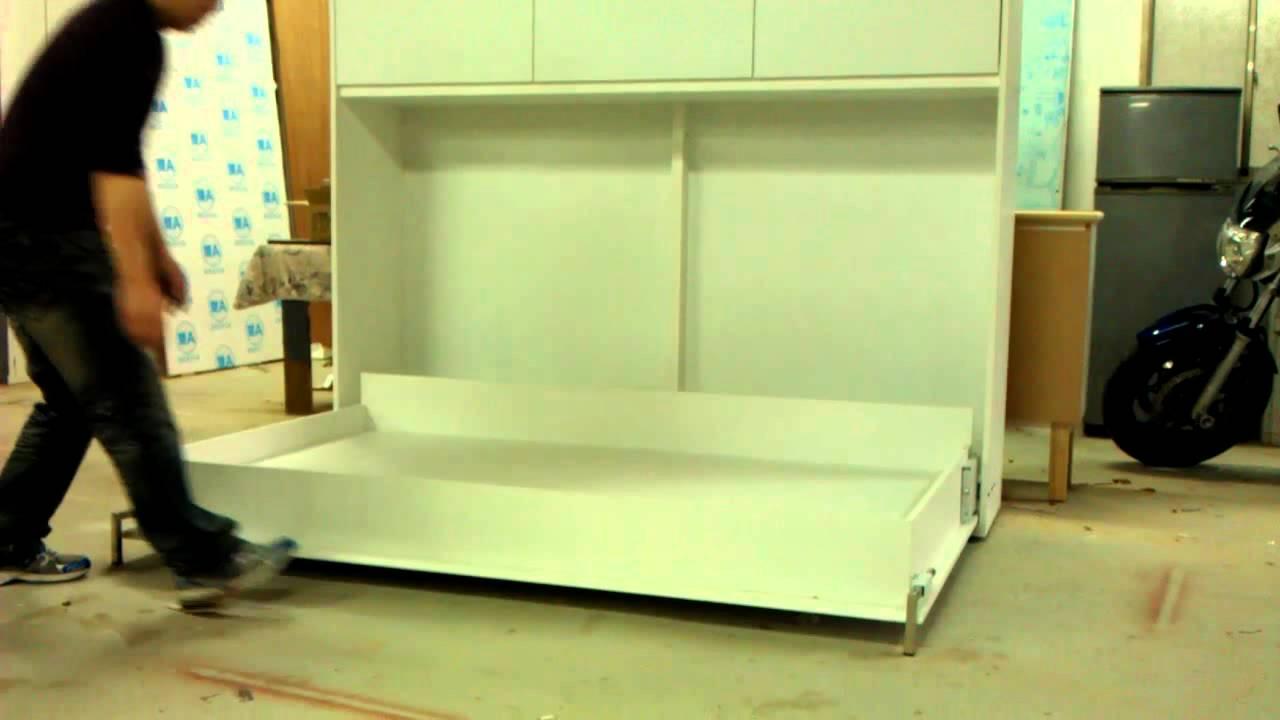 壁式收納掀床訂做~新毅家具訂製廠~新毅客製化家具訂製廠 - YouTube