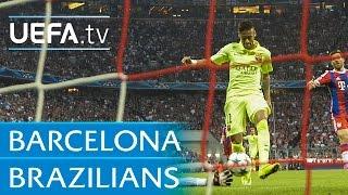 Neymar, Ronaldo, Ronaldinho: 5 goals by Barcelona