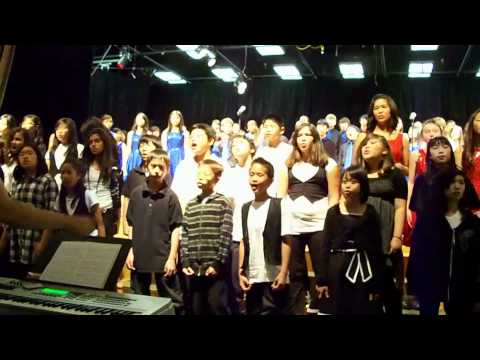 Christmas Choir at South Point Middle School