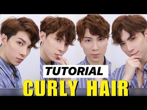 Korean Curly Hair Tutorial ƛ²é«®é€åž‹æ•™å¸ Two Block Cut Mens Hair 2020 Issac Yiu Youtube